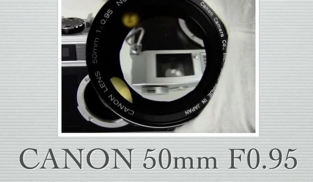 canon lens 50mm f0.95