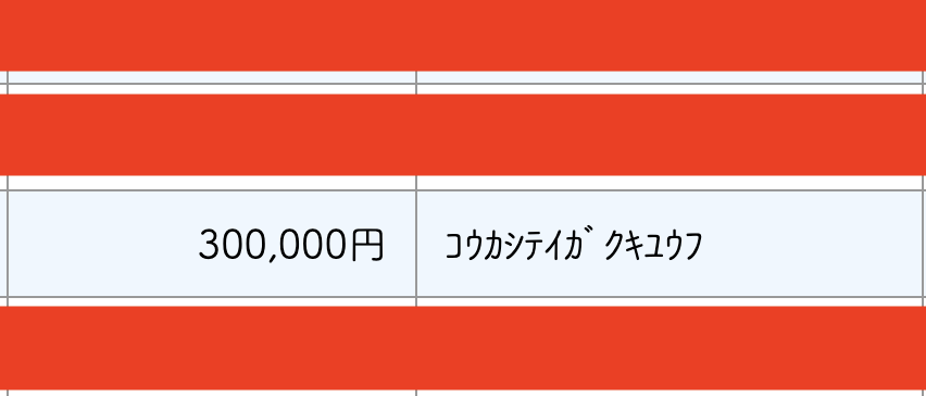 オンライン申請した、定額給付金の入金がありました。